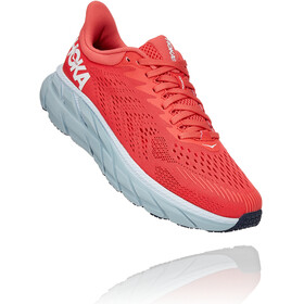 Hoka One One Clifton 7 Scarpe da corsa Donna, hot coral/white